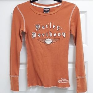 🔥Harley Davidson orange longscll
